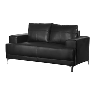 Monarch Love Seat, Bonded Leather