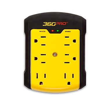 360 Electrical Pro 6 Outlet Surge Protector Wall Tap (36002)