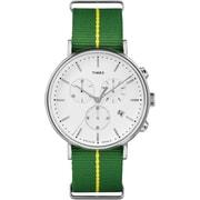 Timex The Fairfield Chronograph Watch, Green/ Yellow Stripe (TW2R26900ZA)