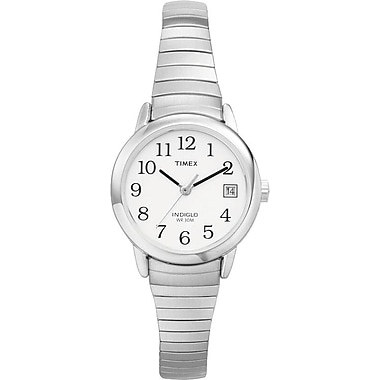 Timex Easy Reader Watch, Silver (T2H371AW)