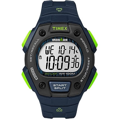 Timex IRONMAN Watch, Blue/Lime (TW5M11600GP)