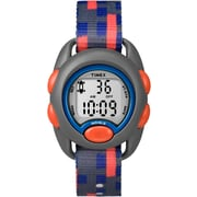 Timex - Montre pour enfants, orange, bleu et gris motif carré (TW7C129009G)