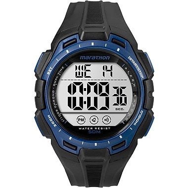 Timex MARATHON Watch, Black & Blue (TW5K947009J)