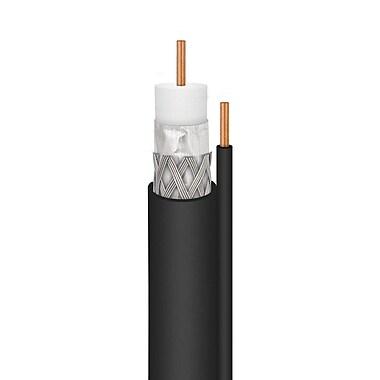 Channel Master – Câble RG6 en cuivre massif avec câble de mise à la terre, 1000 pi, noir (180262)