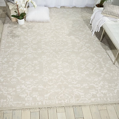 Bungalow Rose Haddou Hand-Knotted Light Gray Area Rug; 9'9'' x 13'9''