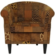 Bloomsbury Market Ronda Traditional Animal Print Barrel Chair