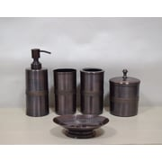 Bloomsbury Market Lisse 5 Piece Bath Accessory Set; Bronze
