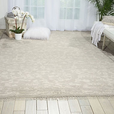 Bungalow Rose Haddou Hand-Knotted Silver Area Rug; 5'6'' x 8'