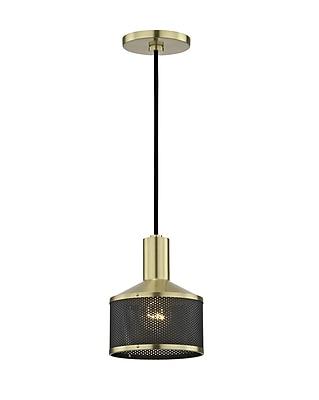 Ivy Bronx Ducote 1-Light Mini Pendant; Aged Brass