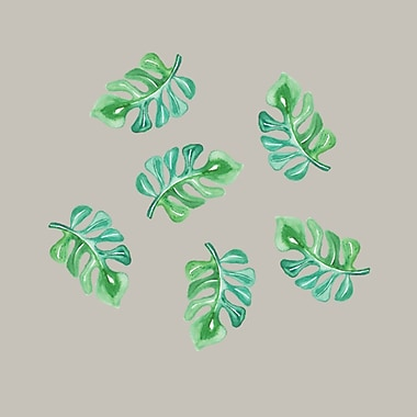 SweetumsWallDecals Tropical Branches Printed Wall Decal; 8'' H x 12'' W