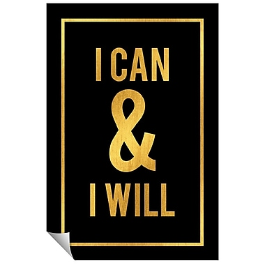 Successories I Can & I Will Wall Decal; 48'' H x 32'' W
