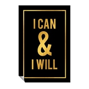 Successories I Can & I Will Wall Decal; 36'' H x 24'' W