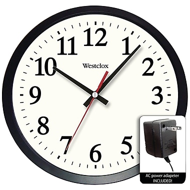 Red Barrel Studio Nesmith Round Electric Powered Office 14'' Wall Clock