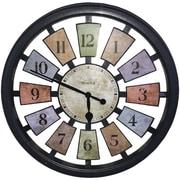 Red Barrel Studio Nevins Round Panel 18'' Wall Clock