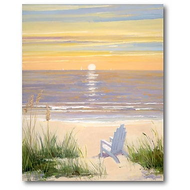 Highland Dunes 'Beach at Sunset II' Print on Wrapped Canvas