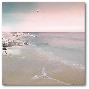 Highland Dunes 'Blush Seascape' Photographic Print on Wrapped Canvas