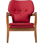 Ivy Bronx Duong Tufted Armchair; Red