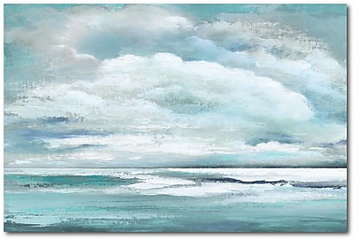 Highland Dunes 'Coastal Clouds' Print on Wrapped Canvas; 24'' H x 36'' W
