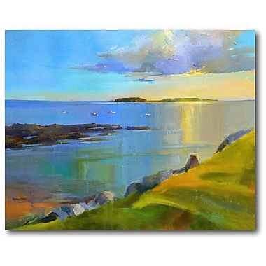 Latitude Run 'Kettle Cove Boats 2' Print on Wrapped Canvas