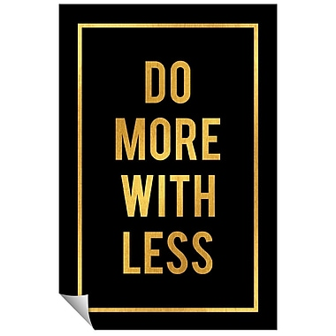 Successories Do More w/ Less Wall Decal; 48'' H x 32'' W