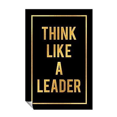 Successories Think Like A Leader Wall Decal; 36'' H x 24'' W