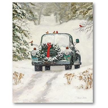 The Holiday Aisle 'Play It's Christmas Pick Up' Graphic Art Print on Canvas