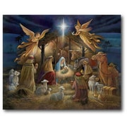 The Holiday Aisle 'Nativity' Graphic Art Print on Canvas