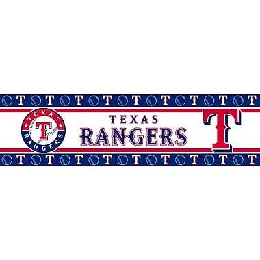 Sports Coverage MLB 15' x 5'' Scenic Border Wallpaper; Texas Rangers