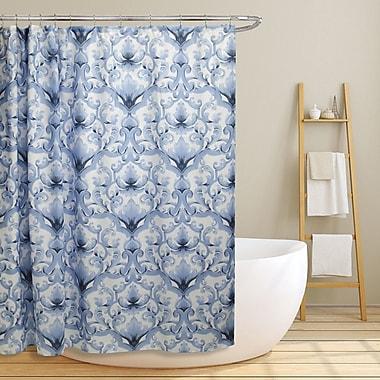 Charlton Home Newland Scroll Damask Shower Curtain