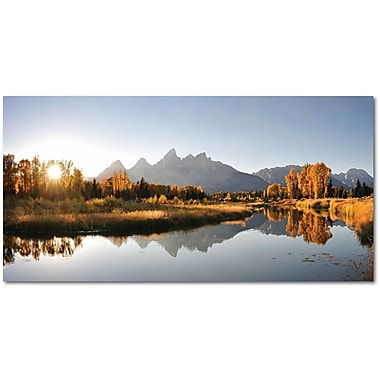 Latitude Run 'Landing on Snake River' Graphic Art Print on Wrapped Canvas