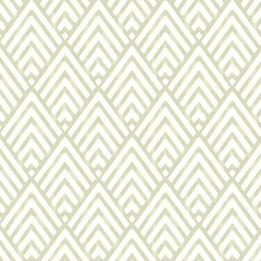 Brayden Studio Anders 33'' x 20.5'' Geometric Wallpaper Roll; Green
