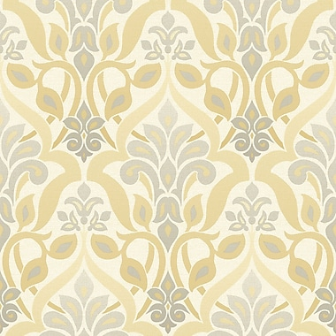 Brewster Home Fashions Simple Space II 33' x 20.5'' Fusion Ombre Wallpaper Roll; Yellow