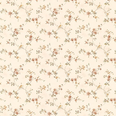 Brewster Home Fashions Valerie Floral Trail 33' x 20.5'' Wallpaper Roll; Tawny
