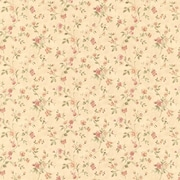 Brewster Home Fashions Cindy Floral Trail 33' x 20.5'' Wallpaper Roll; Beige
