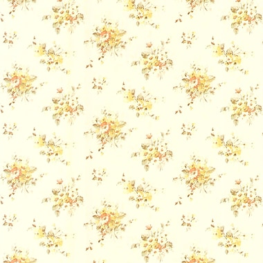 Brewster Home Fashions Elaine Floral Bouquet 33' x 20.5'' Wallpaper Roll; Yellow