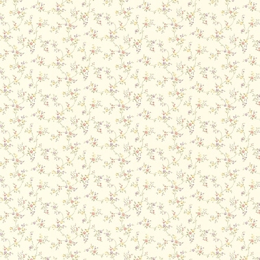 Brewster Home Fashions Wendy Floral Trail 33' x 20.5'' Wallpaper Roll; Purple