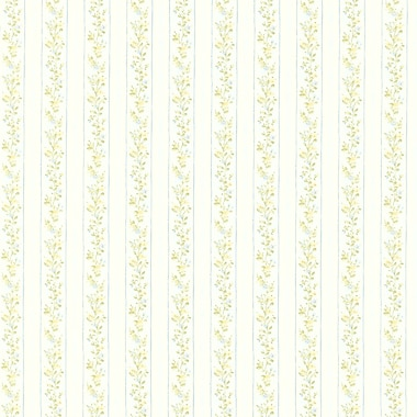 Brewster Home Fashions Emily Floral Stripe 33' x 20.5'' Wallpaper Roll; Blue