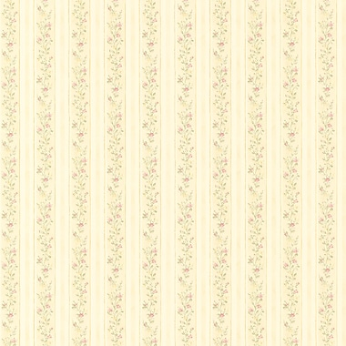 Brewster Home Fashions Emily Floral Stripe 33' x 20.5'' Wallpaper Roll; Green