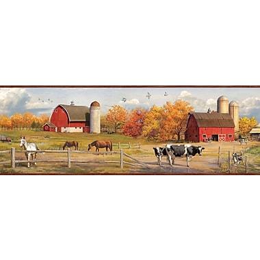 Borders by Chesapeake Jonny American Farmer Portrait 15' x 7.5'' Scenic 3D Embossed Border Wallpaper