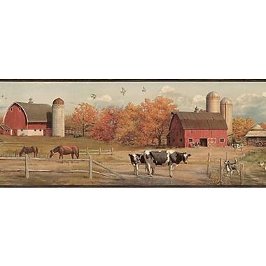 Outdoors Winslow American Farmer Portrait 15' x 7.5'' Scenic 3D Embossed Border Wallpaper