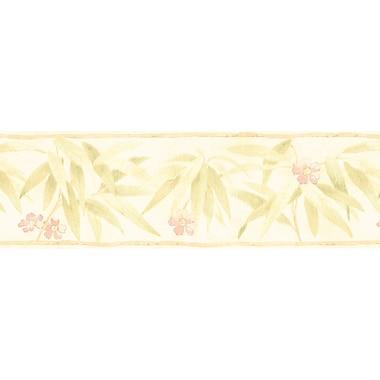 Brewster Home Fashions 15' x 6.75'' Bamboo Flower Wallpaper; Beige