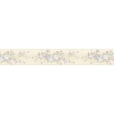 Brewster Home Fashions Lucky Day 15' x 3.4'' Rose Wallpaper Border
