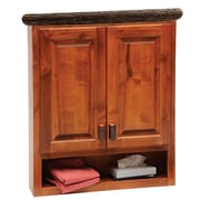 Fireside Lodge Hickory 32'' W x 36'' H Wall Mounted Cabinet; Traditional Hickory