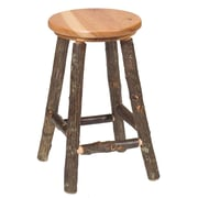 Fireside Lodge Hickory 30'' Bar Stool; Rustic Maple