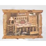 Fireside Lodge Traditional Cedar Log Wall Mirror; 48'' W x 36'' H