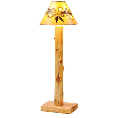 Fireside Lodge Traditional Cedar Log 58'' Floor Lamp; Vintage Finish