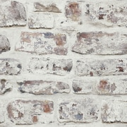 Arthouse Whitewashed Wall White 33.5' x 22'' Brick Wallpaper