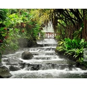 Brewster Home Fashions Tranquil Waterfall 8' x 116'' 6 Piece Wall Mural Set