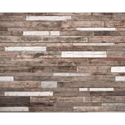Brewster Home Fashions Wooden Planks 8' x 116'' 6 Piece Wall Mural Set