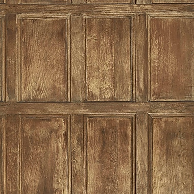 University of Oxford Common Room Wainscoting 33' x 20.5'' Distressed Wallpaper Roll